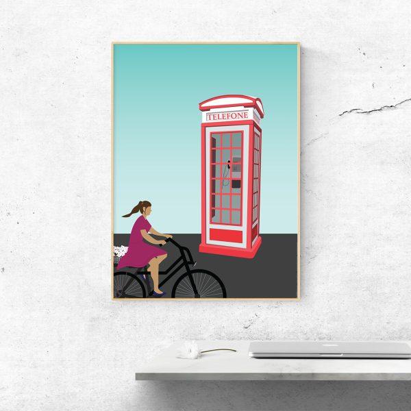 Cabine telefónica na Foz do Douro.