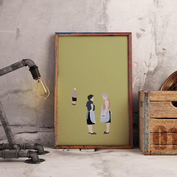 Maldizer: Poster com ilustração das gentes portuguesas