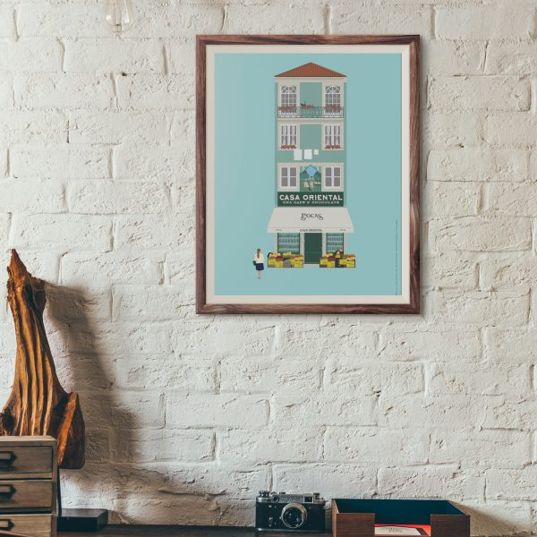 Posters com ilustrações de ícones da cidade do Porto