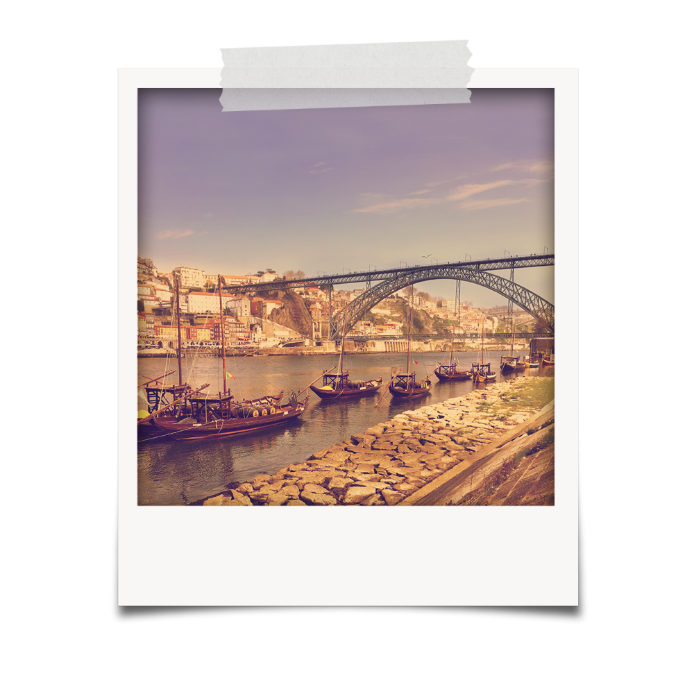 Polaroid Ponte Luís I e Barcos rabelo
