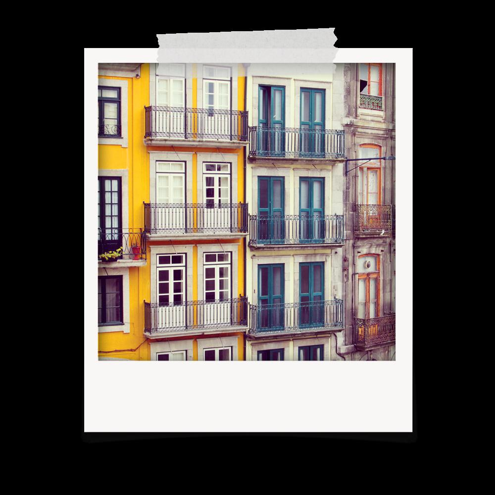 Casario antigo do Porto / Polaroids com instantâneos sobre o Porto