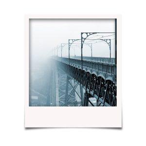 Nevoeiro sobre a ponte Luís I